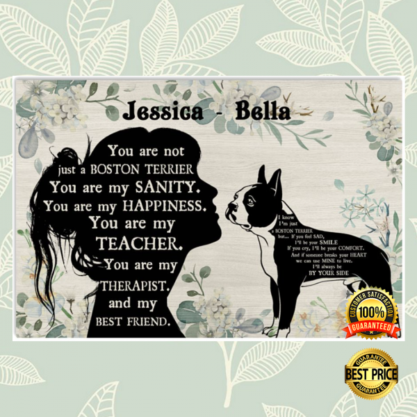 PERSONALIZED GIRL AND BOSTON TERRIER YOU ARE NOT JUST A BOSTON TERRIER POSTER 3