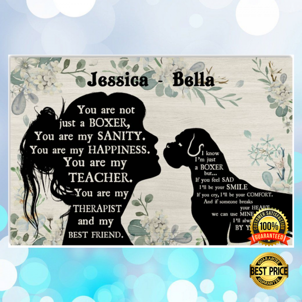 PERSONALIZED GIRL AND BOXER YOU ARE NOT JUST A BOXER POSTER 3