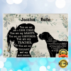 PERSONALIZED GIRL AND CANE CORSE YOU ARE NOT JUST A CANE CORSE POSTER 1