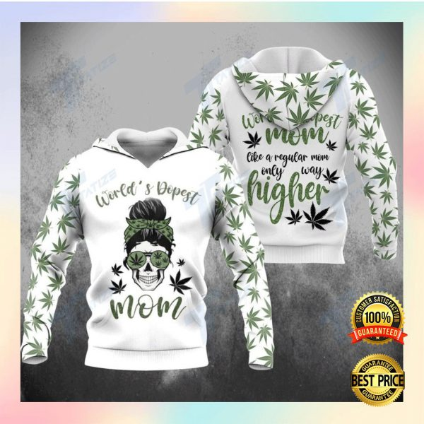 WEED WORLD'S DOPEST MOM ALL OVER PRINTED 3D HOODIE 3