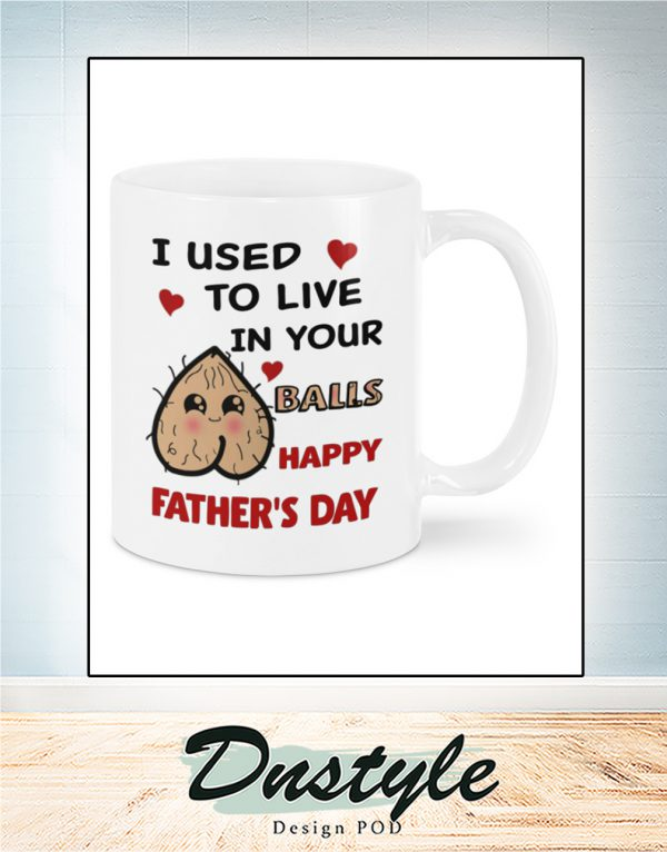 I used to live in your balls happy father_s day mug