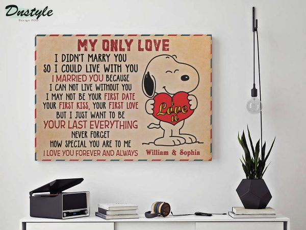 Personalized custom name snoopy my only love canvas prints