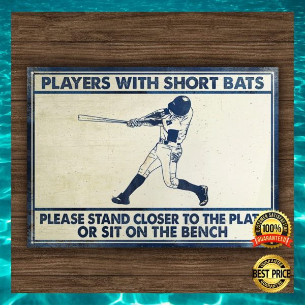 Players with short bats please stand closer to the plate or sit on the bench canvas 3