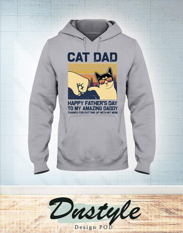 Vintage Cat dad happy father's day to amazing daddy shirt