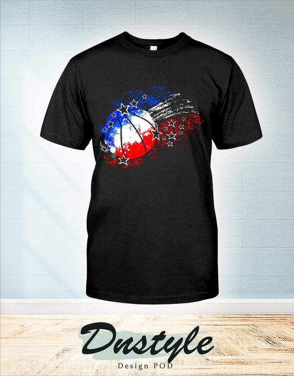 Basketball red white blue 4th july shirt