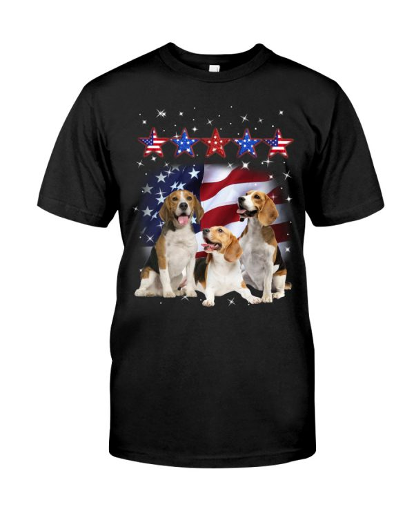 Beagle america five star fore 4th of July shirt