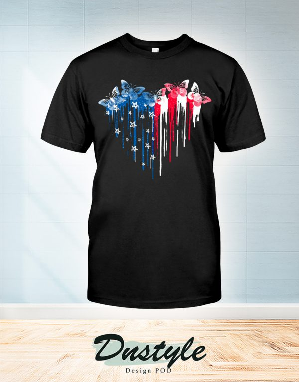 Butterfly freedom hear colors t-shirt