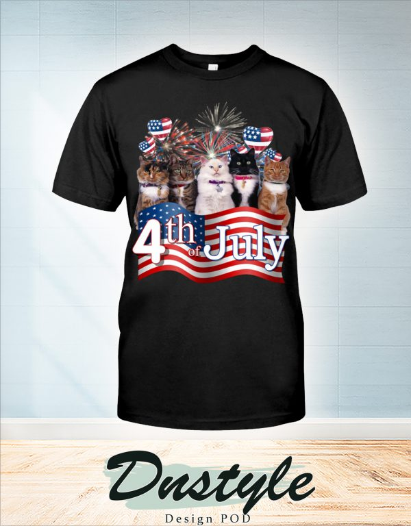 Cats we love america 4th of july t-shirt