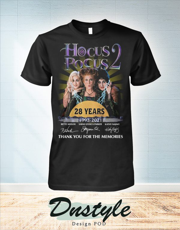 Hocus pocus 28 years thank you for the memories t-shirt
