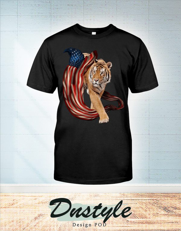 Tiger cool and freedom 4th july shirt