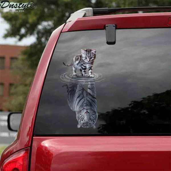 Cats tigers animal cute car decal sticker