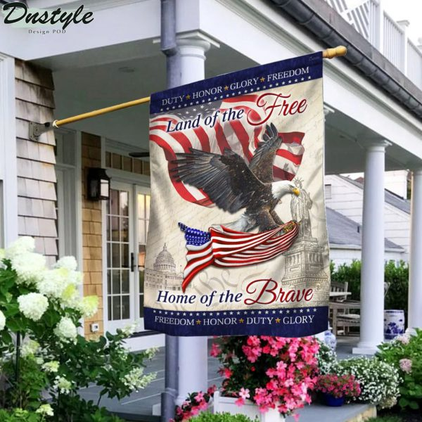 Eagle america flag land of the free home of the brave flag
