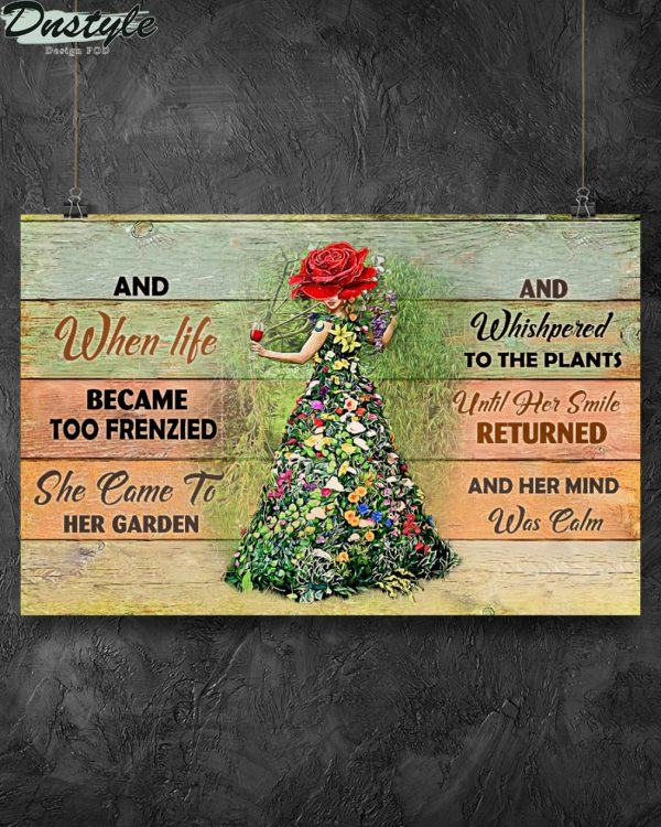 Garden girl and when life became too frenzied poster