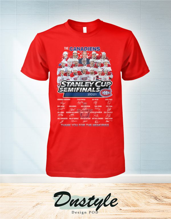 The canadiens stanley cup semifinals 2021 signature shirt