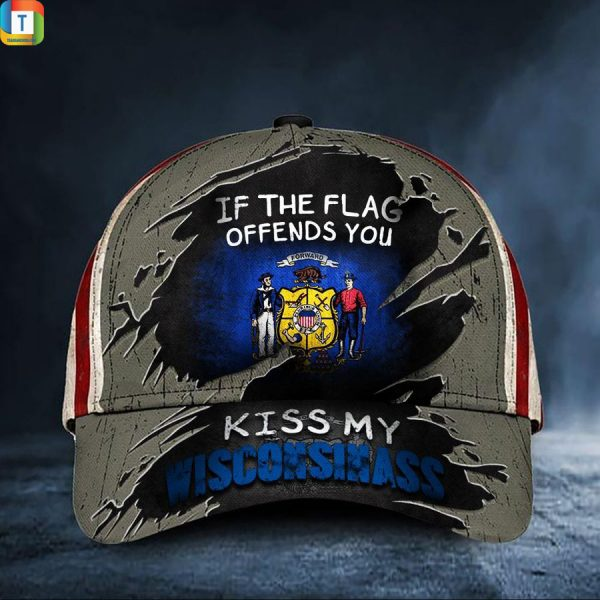 If The Flag Offends You Kiss My Wisconsinass Classic Cap
