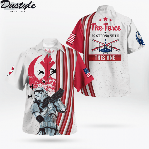 Star wars ships x wing the force is strong with this one hawaiian shirt and short